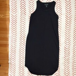 Cynthia Rowley Black Midi Racer Back Dress Sz 6